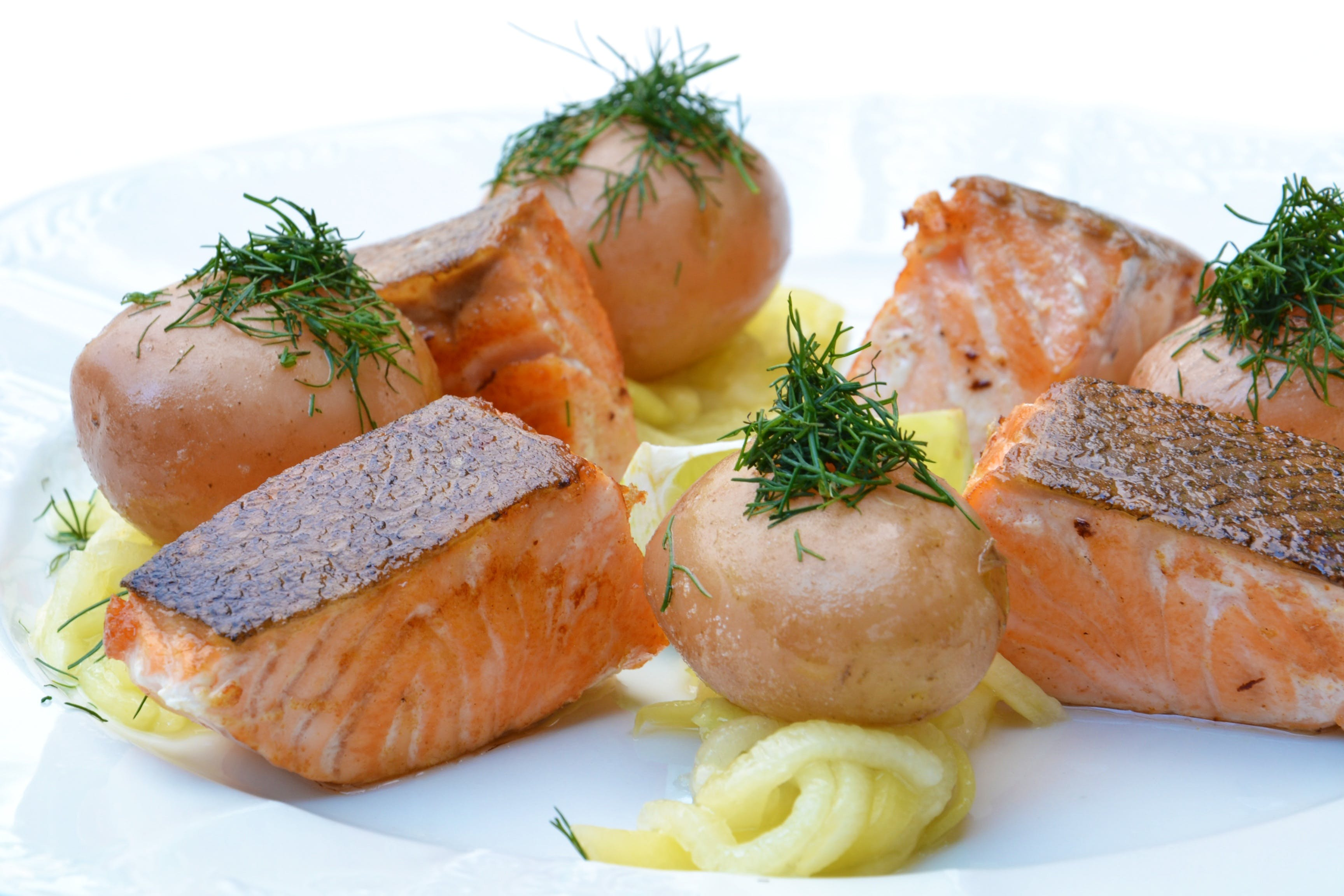 Cooked Fish on Plate