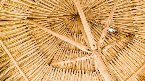 Foto d'estoc gratuïta de bambú, baret de platja, barret de platja, cadires de platja