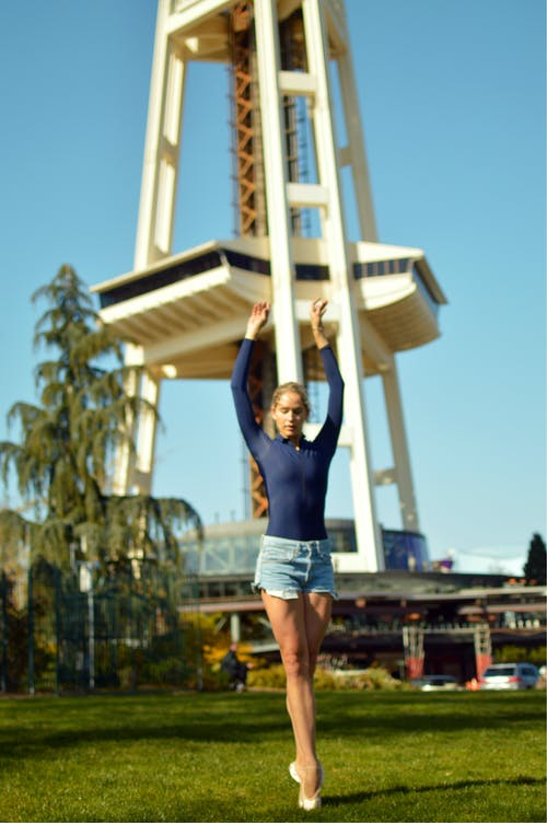 Free stock photo of dancers, seattle space needle