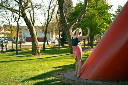 Kostnadsfri bild av äng, armar uppvuxna, ballerina