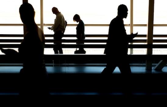 Free stock photo of people, walking, silhouette, blur