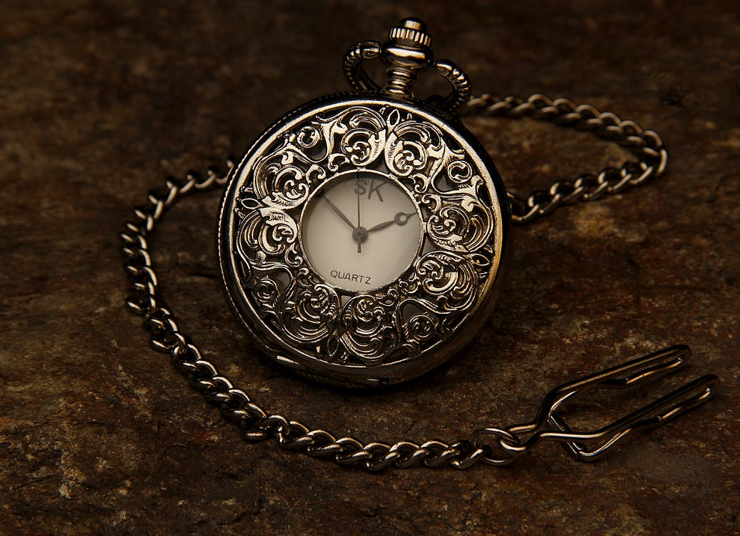 Silver Sk Pocket Watch
