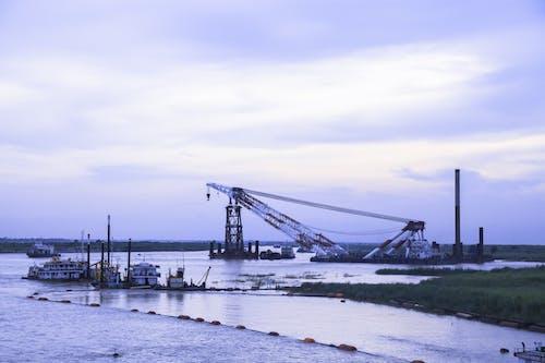 Photos gratuites de les travaux de construction du pont polyvalent de padma sont