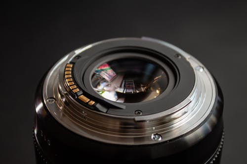 Black and Silver Camera Lens