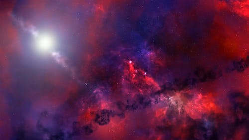 Red and Black Galaxy Digital Wallpaper