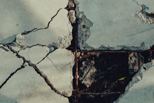 Free stock photo of broken, concrete, cracks