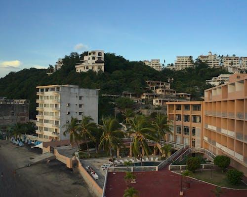 Free stock photo of bay, beach, blue sky, buildings