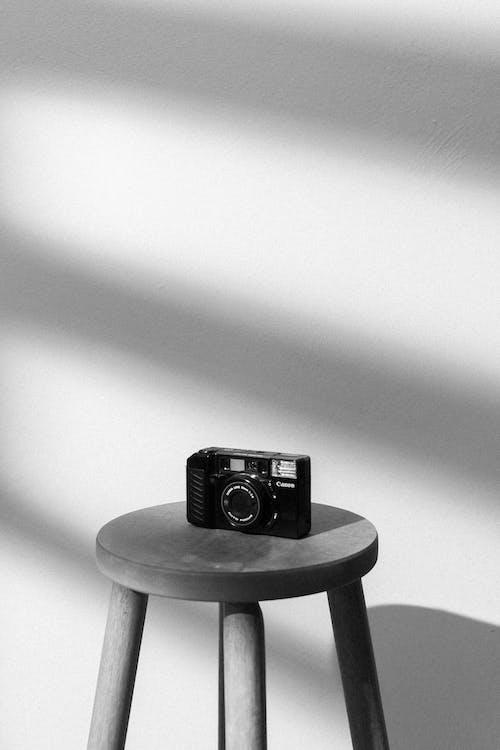Black Camera on Black Seat