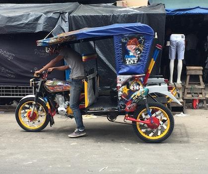 Free stock photo of peru, Iquitos, Belen Market, Motobike Taxi
