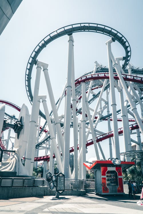 Photo of a Roller Coaster in Universal Studios at Singapore