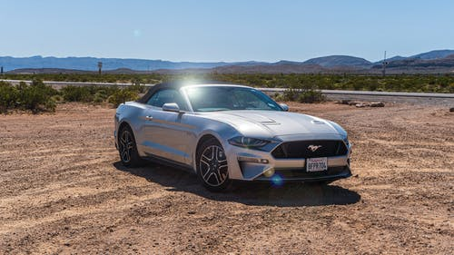 Free stock photo of car, convertible, desert, ford