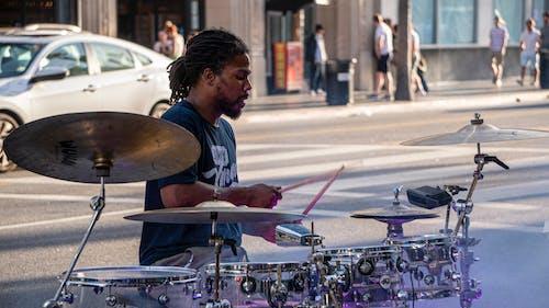 Free stock photo of drum, drum set, drummer