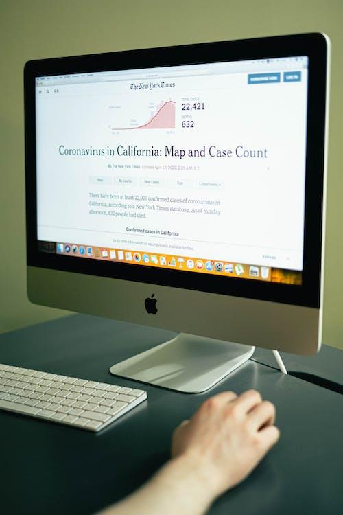 Coronavirus News on a Computer