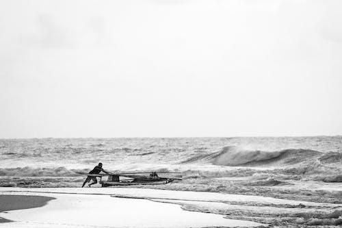 Imagine de stoc gratuită din afro, areia da praia, barco, barco de pescaria