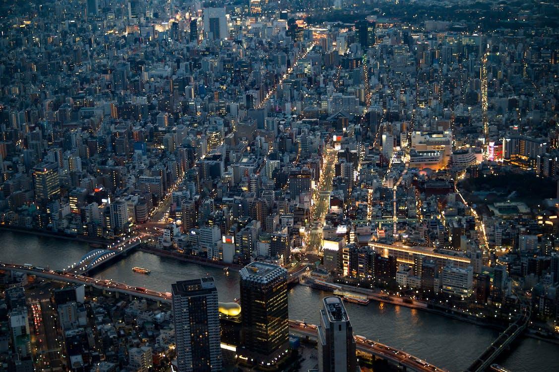 Free stock photo of city, cityscape, japan
