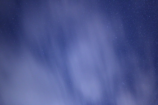 Free stock photo of night, clouds, galaxy, stars