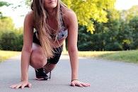 woman, girl, jogging