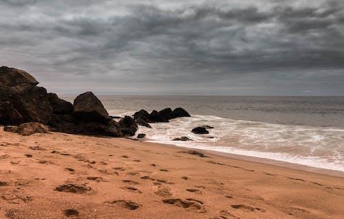 คลังภาพถ่ายฟรี ของ คลื่น, ชายหาด, ทราย, ท้องฟ้า