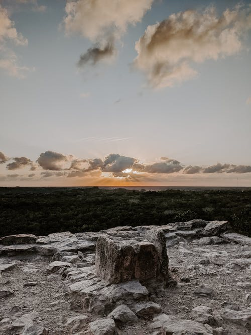 Gratis lagerfoto af hav, landskab, lys, maya ruins