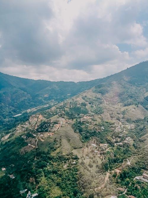 Gratis lagerfoto af agerjord, antenne, bakke, bjerg