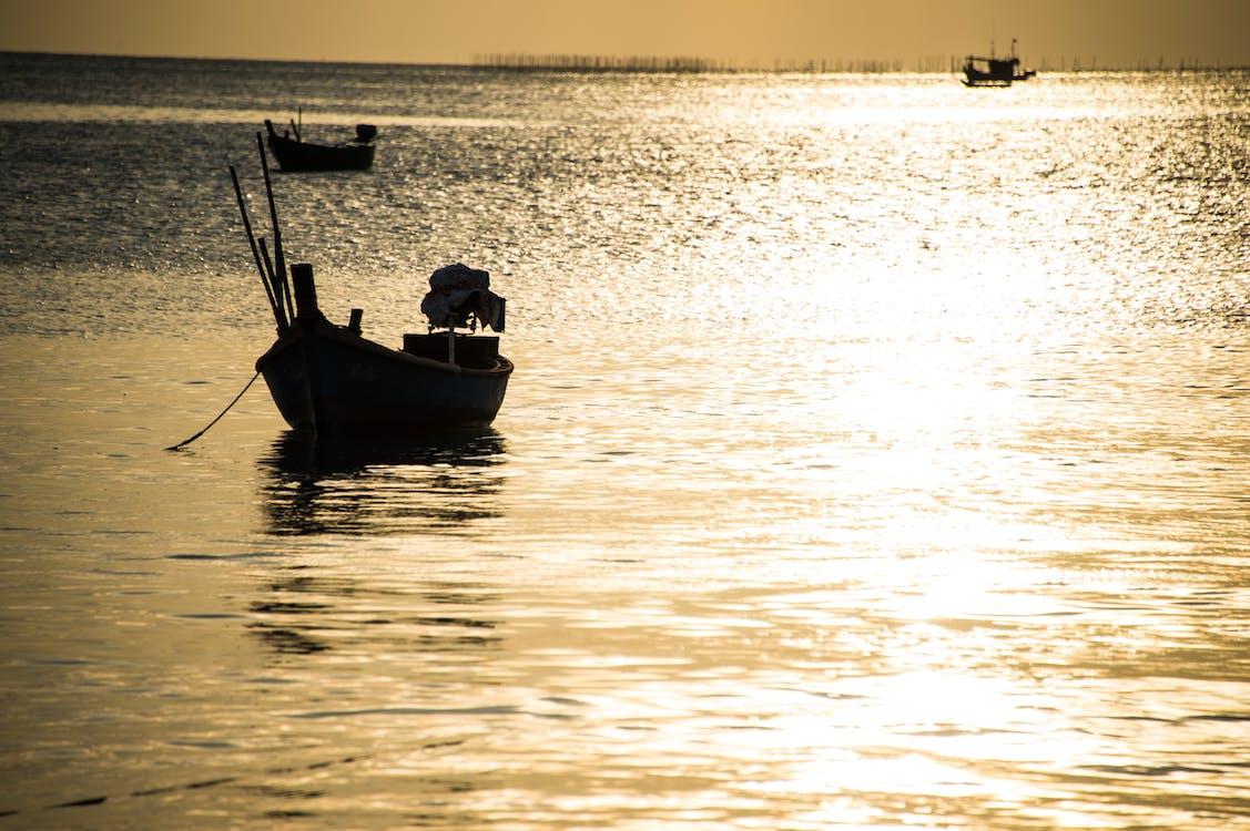 Free stock photo of golden sea, golden sun, pattaya