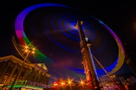 night, building, colorful