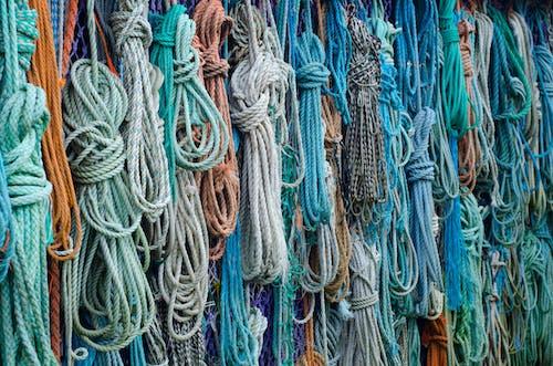 Immagine gratuita di azzurro, colorato, corde, nautico