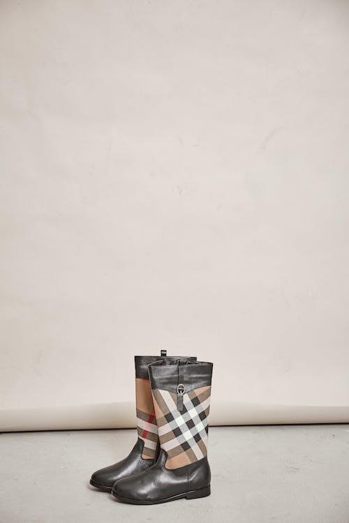 Black Orange and White Plaid Box