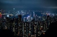 light, sea, city