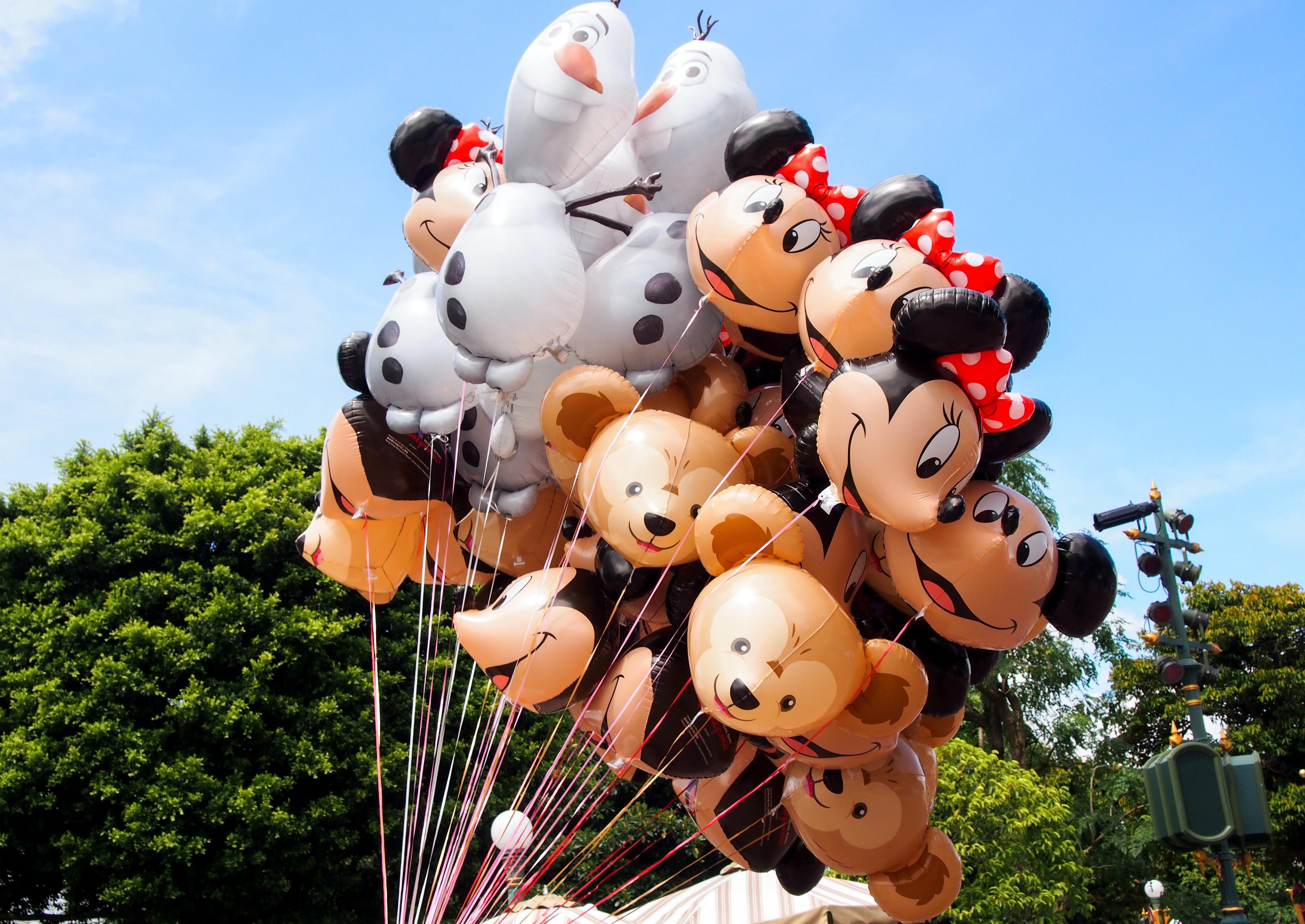 ディズニー ディズニーランド バルーンの無料の写真素材