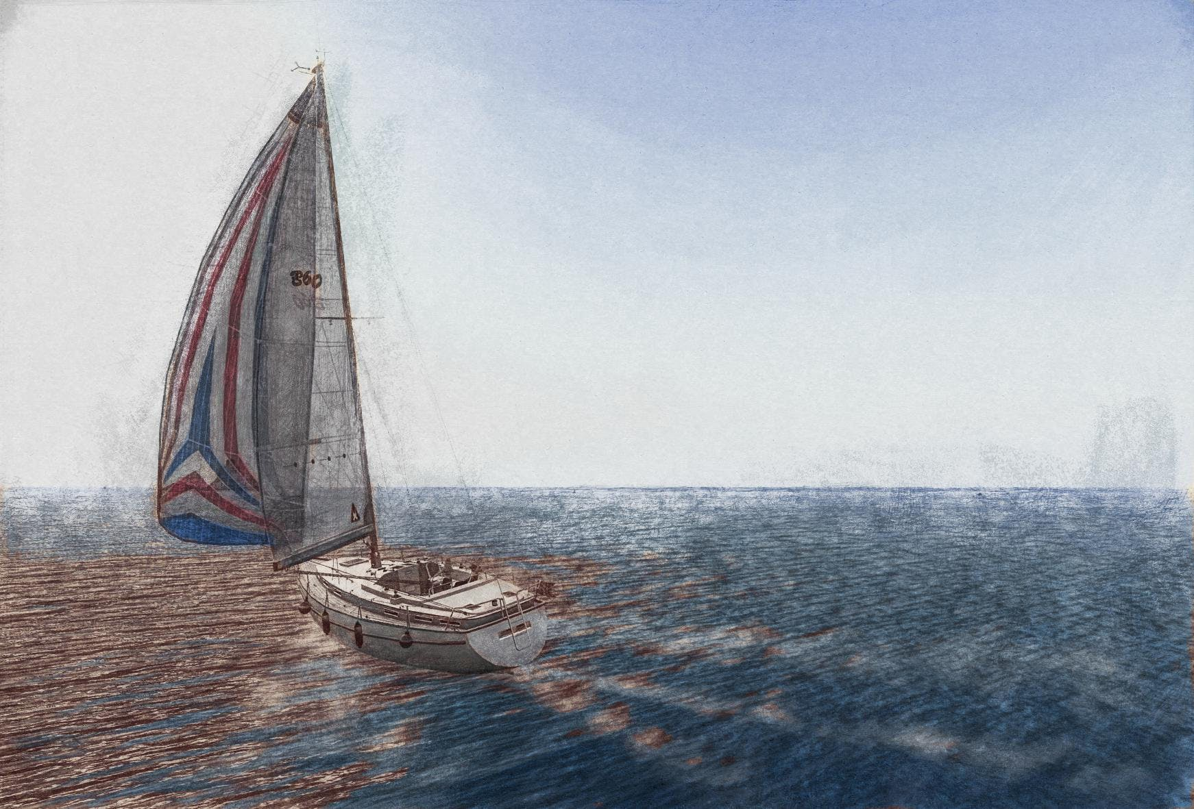 Free stock photo of sail boat, abstract photo