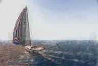 sail boat, abstract photo
