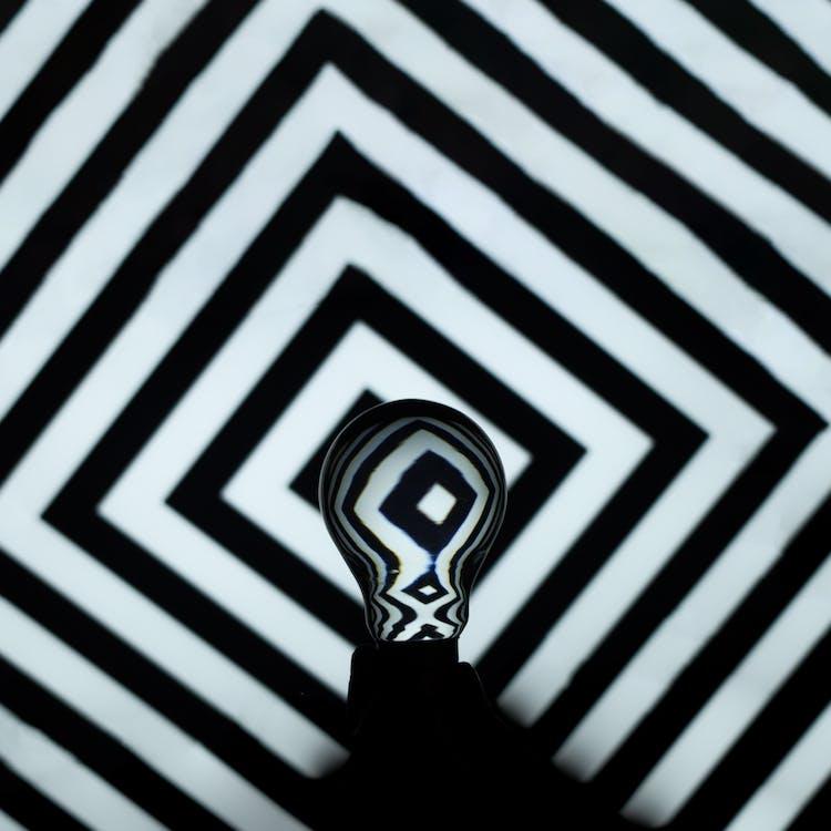 Black and White Chevron Textile