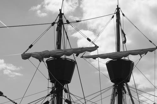 Photos gratuites de bateau ancien, ciel, cordes, marin
