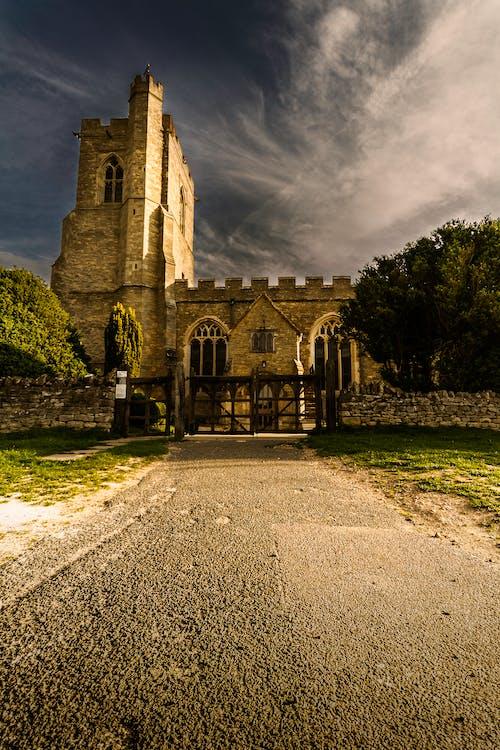 Foto profissional grátis de abadia, ancião, arquitetura, árvores
