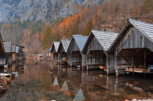 Brown Wooden House Beside River