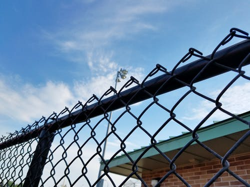 Free stock photo of black, chainlink fence, park