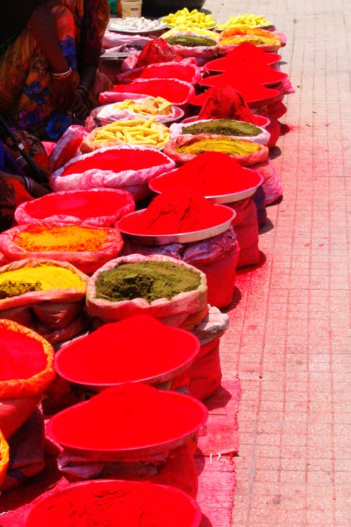 Free stock photo of colours, india, marketplace