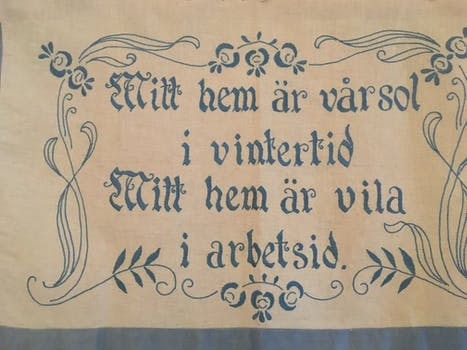 Free Stock Photo Of Embroidery Proverb Swedish
