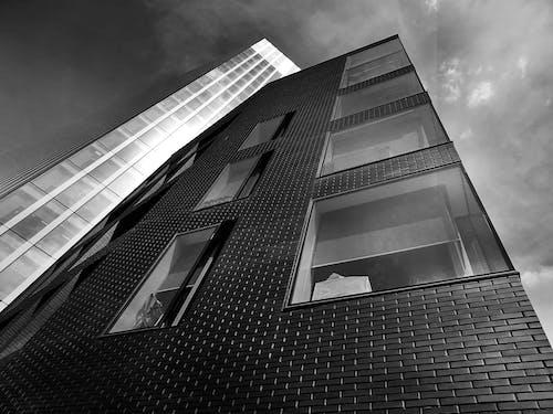 ガラス窓, スカイライン, ダウンタウン, モダンの無料の写真素材
