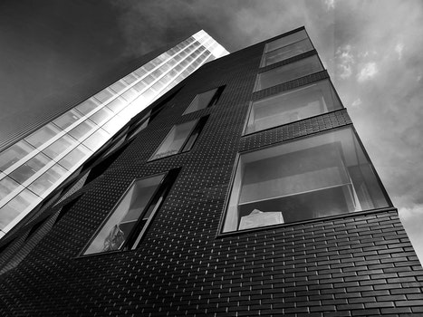 Free stock photo of black-and-white, sky, street, skyline