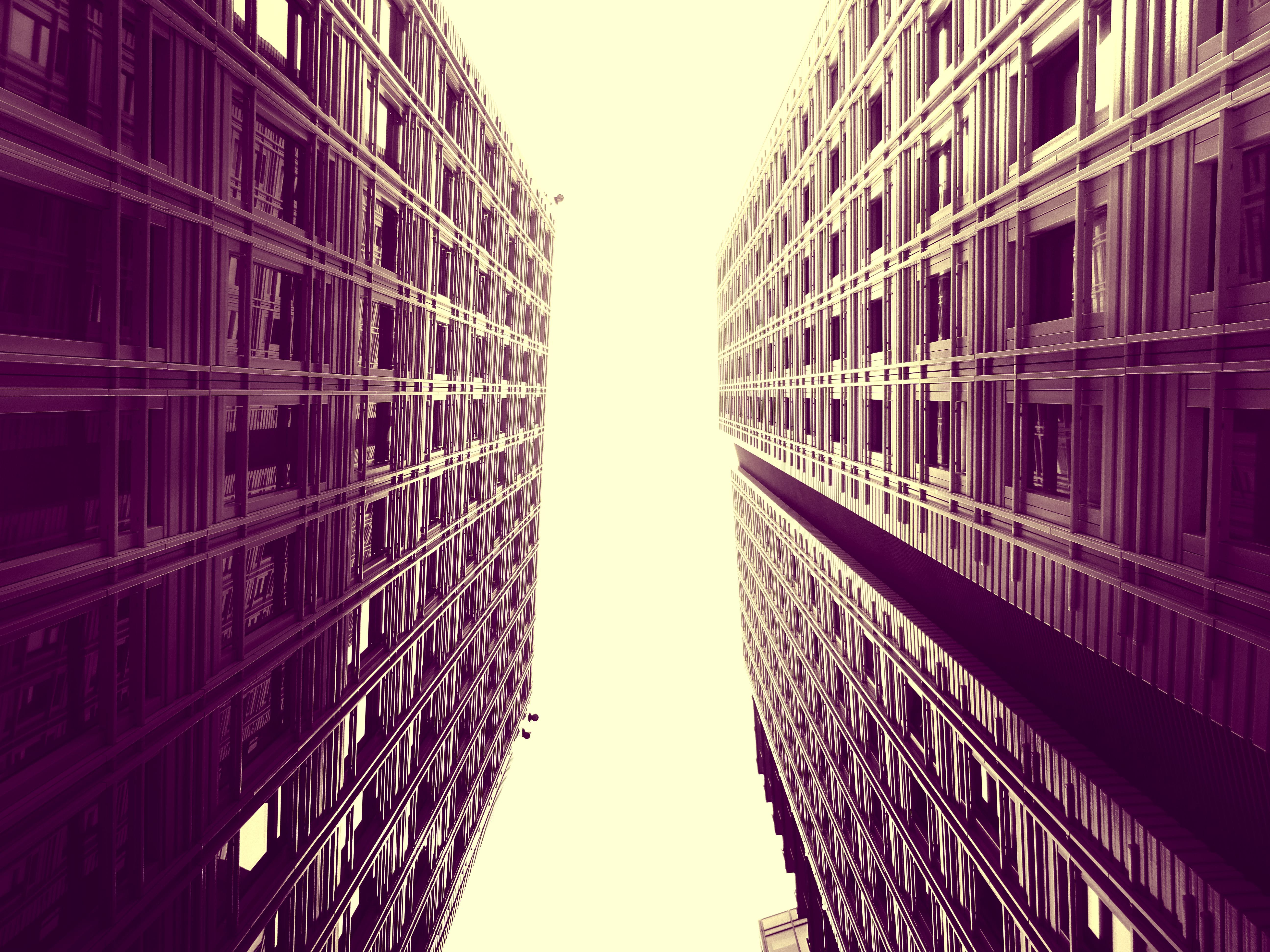 Worm's-eye View of Concrete Buildings