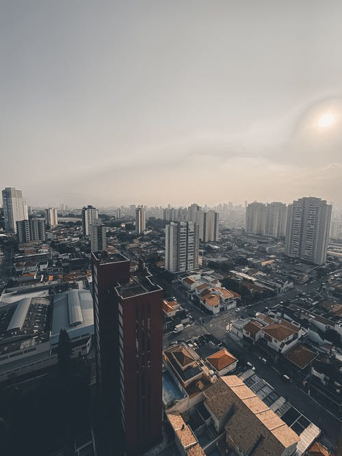 Aerial View of Buildings in Sao Paolo