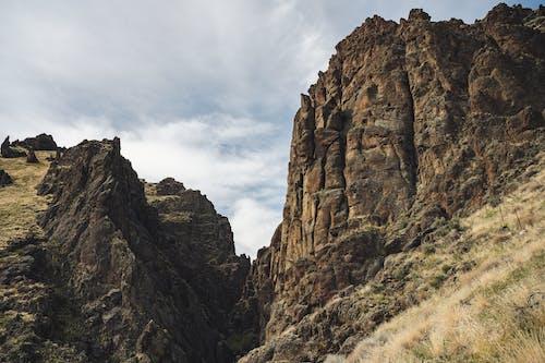 Severe rocky mountain ridge in highlands