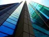 city, buildings, glass