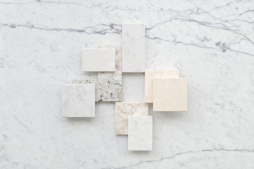 White Square Blocks on White Surface