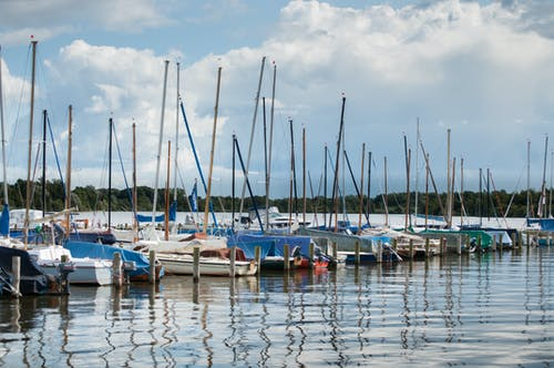 Foto d'estoc gratuïta de barques, port, port esportiu, velers