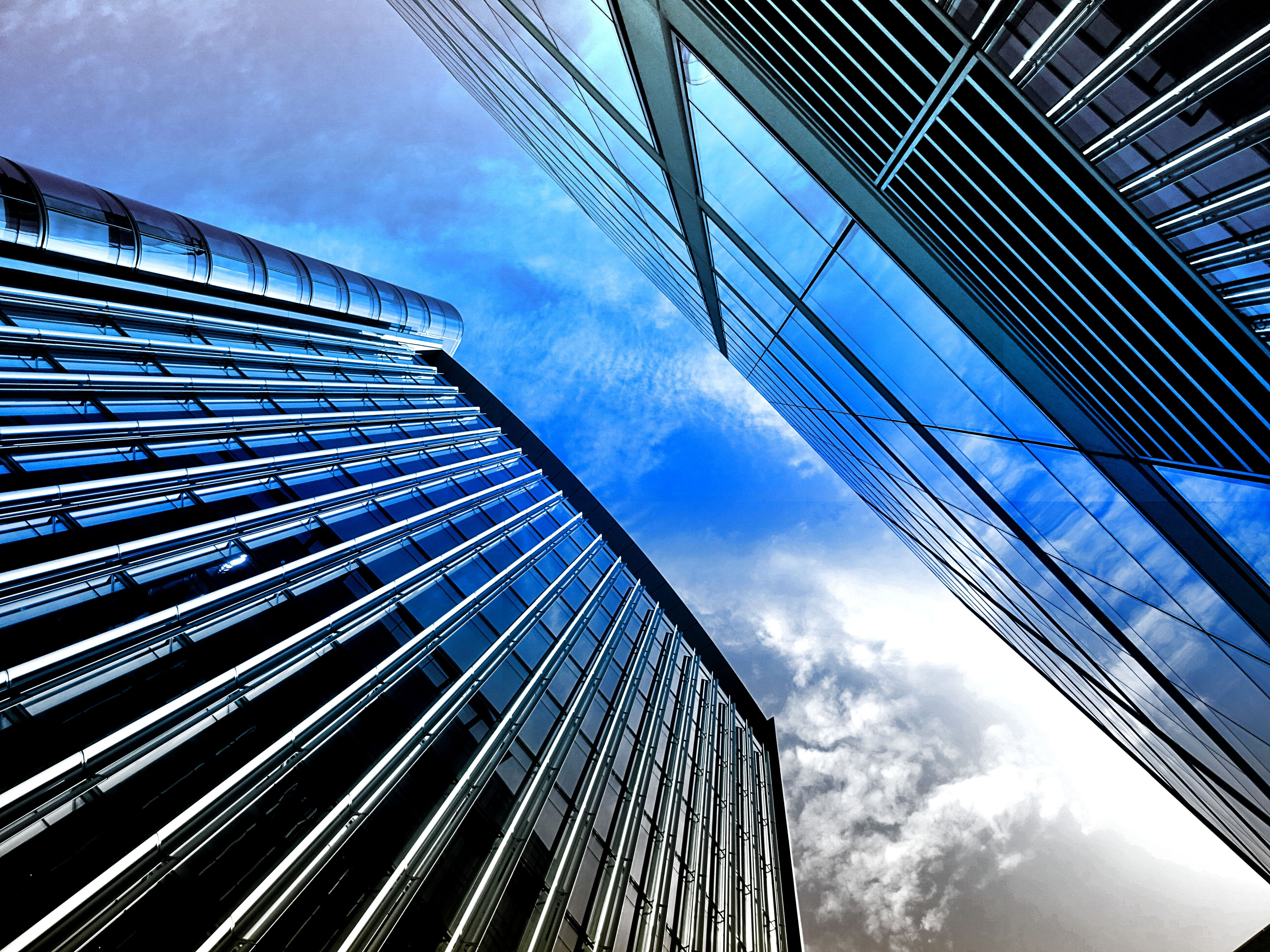 Worm's Eye View Photograph of Modern Building