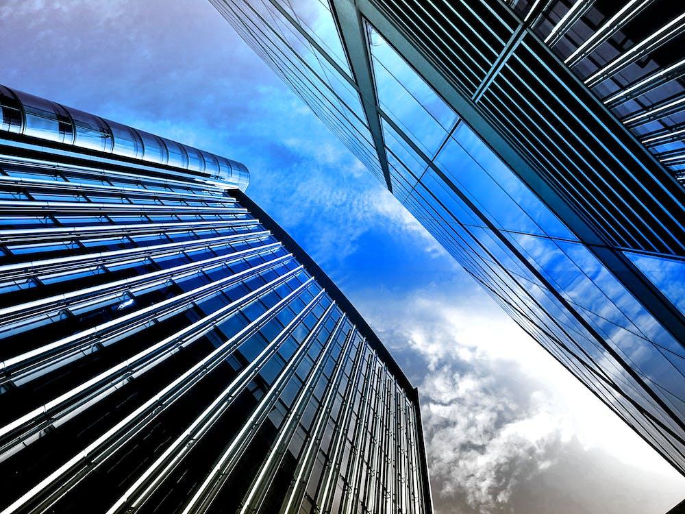 acier, architecture, bureau