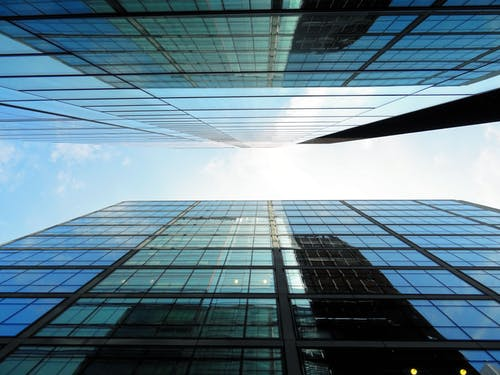 Low-angle Photography of Glass Buildings